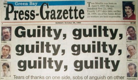 Headline the day The Monfils Six were convicted