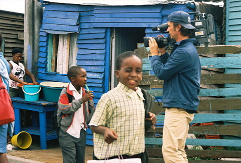 Filming Reaching for the Rainbow